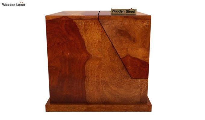 Tyrone Table Cum Shelf (Honey Finish)-7