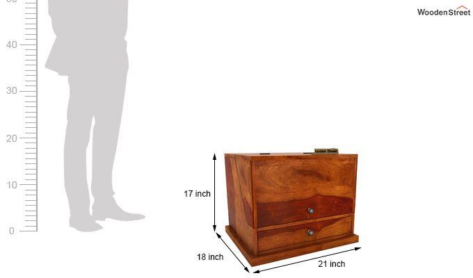 Tyrone Table Cum Shelf (Honey Finish)-8