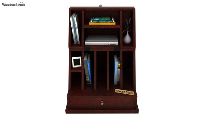 Tyrone Table Cum Shelf (Mahogany Finish)-2
