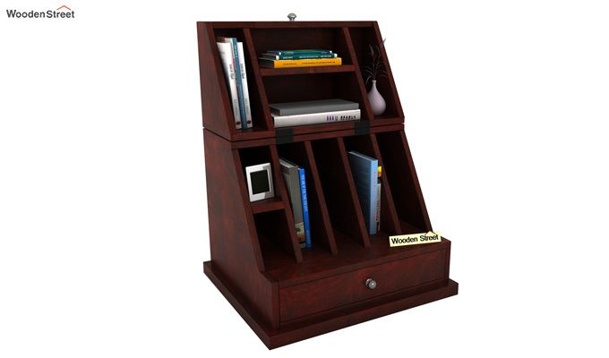 Tyrone Table Cum Shelf (Mahogany Finish)-1