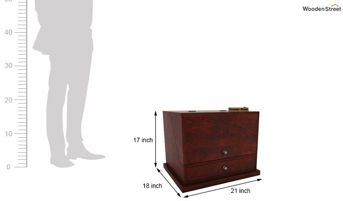 Tyrone Table Cum Shelf (Mahogany Finish)-9