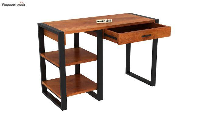 Wally Study Table (Honey Finish)-4