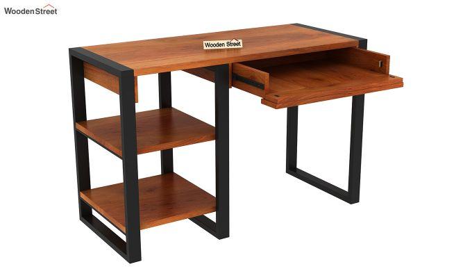 Wally Study Table (Honey Finish)-5
