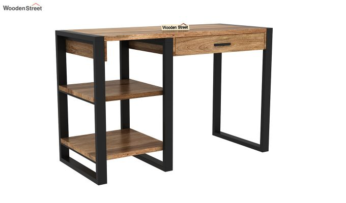 Wally Study Table (Natural Finish)-2