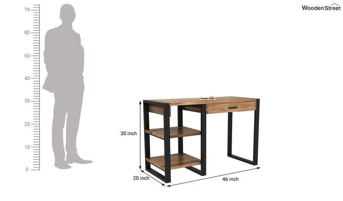 Wally Study Table (Natural Finish)-6