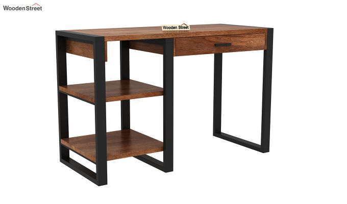 Wally Study Table (Teak Finish)-2