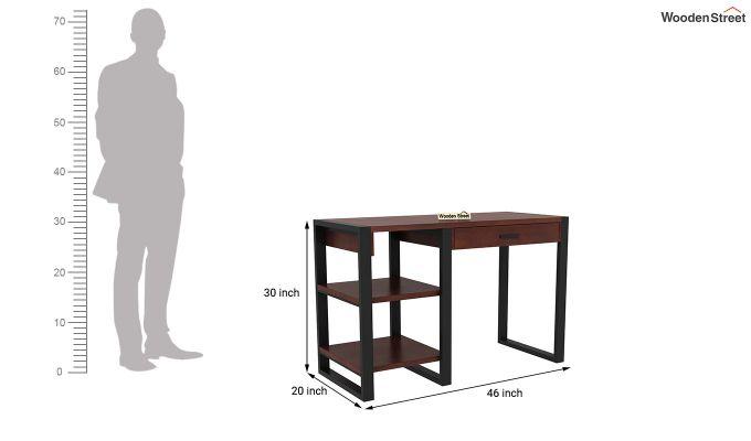 Wally Study Table (Walnut Finish)-6