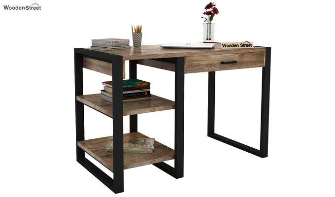 Wally Study Table (Black Finish)-2