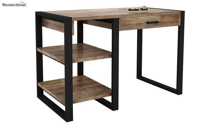 Wally Study Table (Black Finish)-4