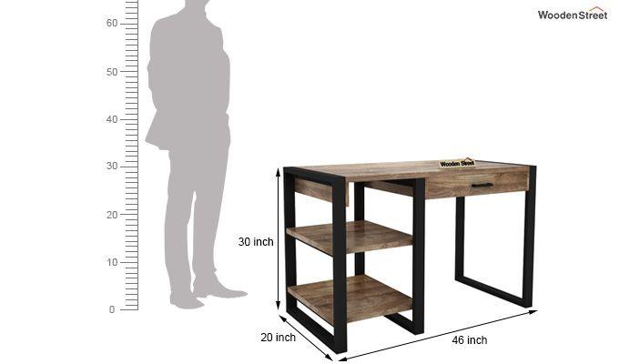 Wally Study Table (Black Finish)-9