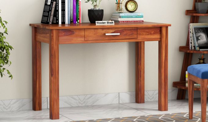 Wiley Study Table (Honey Finish)-1