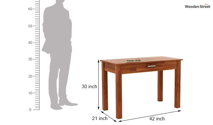 Wiley Study Table (Honey Finish)-5