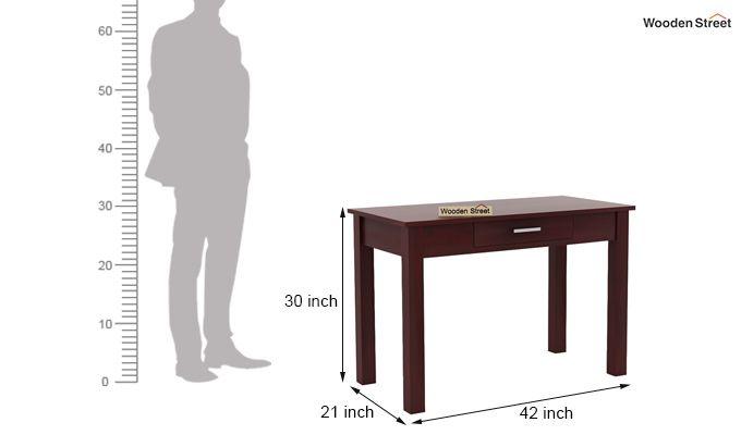Wiley Study Table (Mahogany Finish)-5