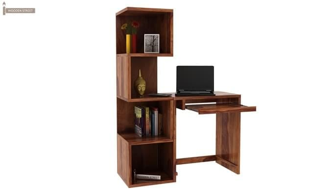 Zeneca Study Table (Teak Finish)-6