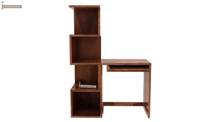 Zeneca Study Table (Teak Finish)-7