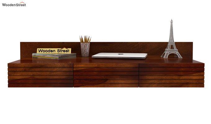 Zeni Wall Mounted Study Table (Honey Finish)-2