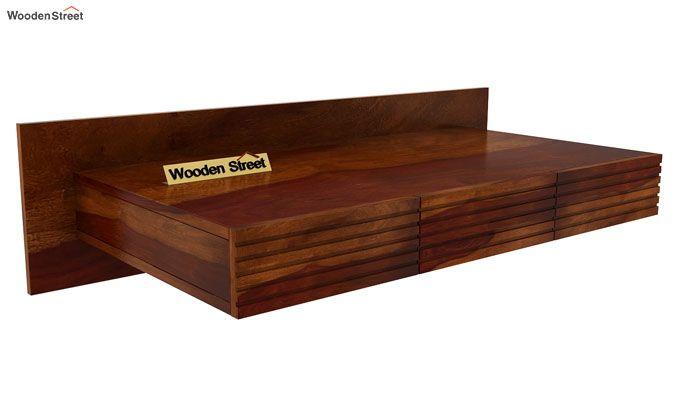 Zeni Wall Mounted Study Table (Honey Finish)-3