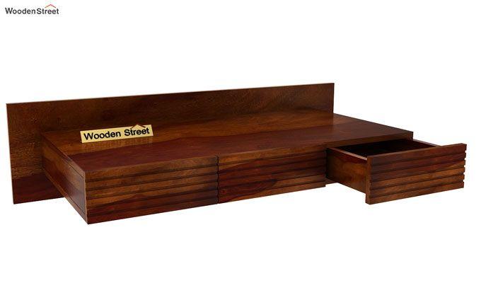 Zeni Wall Mounted Study Table (Honey Finish)-4