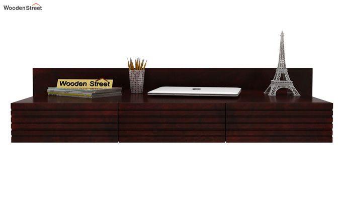 Zeni Wall Mounted Study Table (Mahogany Finish)-2