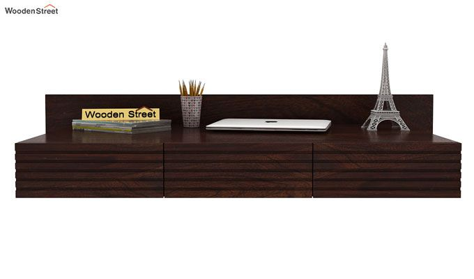 Zeni Wall Mounted Study Table (Walnut Finish)-2