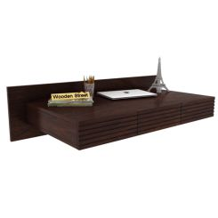 Zeni Wall Mounted Study Table (Walnut Finish)