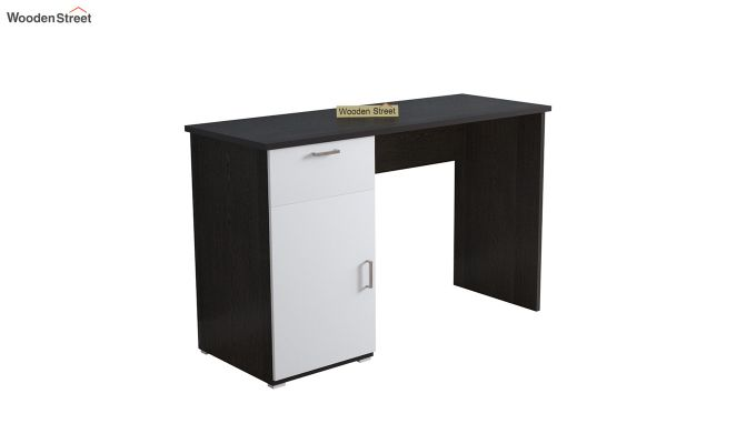 Mira Study Table with Frosty White Drawer (Flowery Wenge Finish)-2