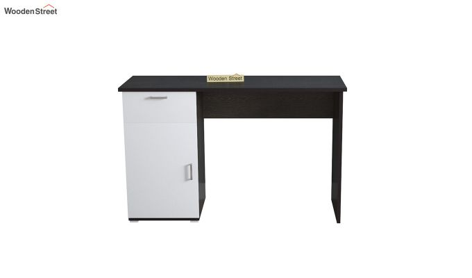 Mira Study Table with Frosty White Drawer (Flowery Wenge Finish)-3