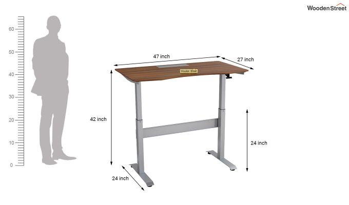 Remo Hydraulic Study Table (Exotic Teak Finish)-9
