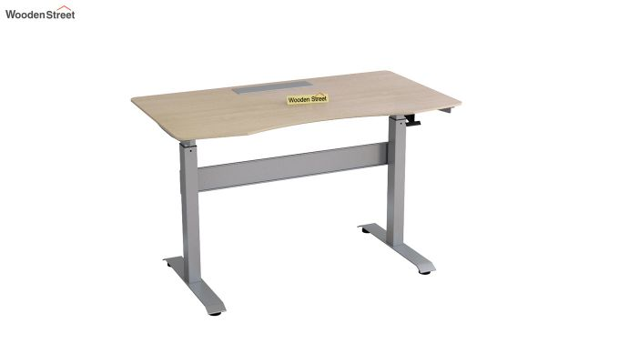 Remo Hydraulic Study Table (Ice Beech Finish)-3