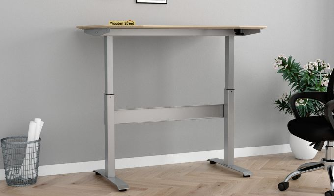 Remo Hydraulic Study Table (Ice Beech Finish)-2