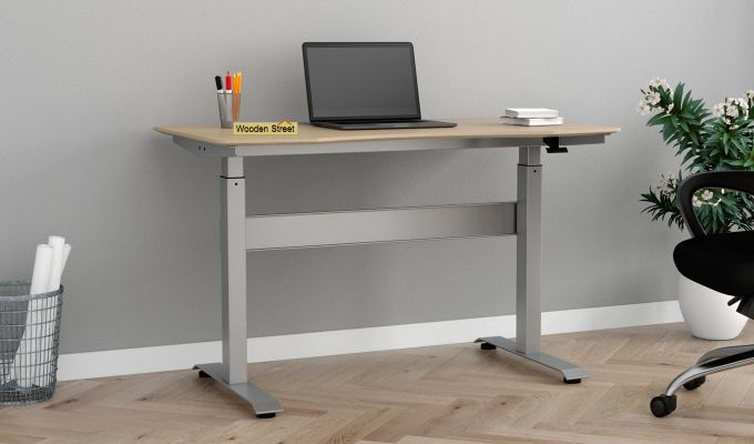 Remo Hydraulic Study Table (Ice Beech Finish)-1