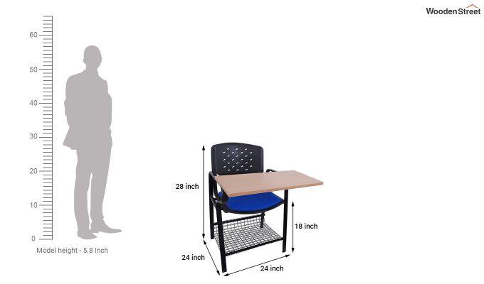 Powder Coated Heavy Frame Training Chair (Blue)-4