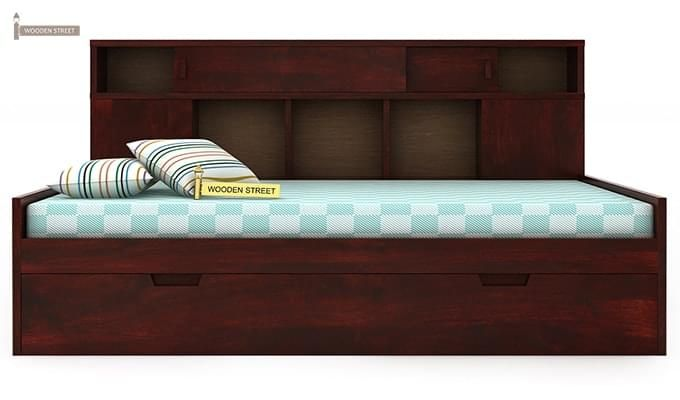 Adeline Sofa Cum Bed (Mahogany Finish)-2
