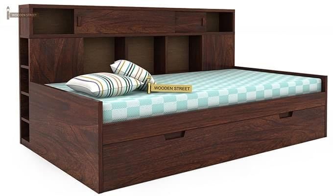 Adeline Sofa Cum Bed (Walnut Finish)-5