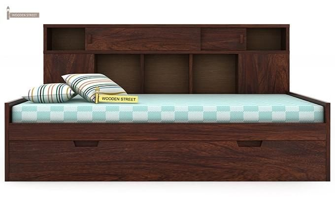 Adeline Sofa Cum Bed (Walnut Finish)-6