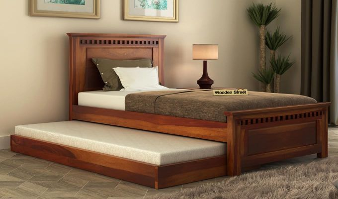 Adolph Trundle Bed (Honey Finish)-1