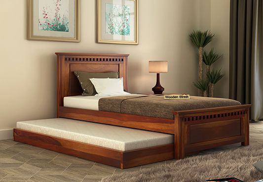 Adolph Trundle Bed (Honey Finish)