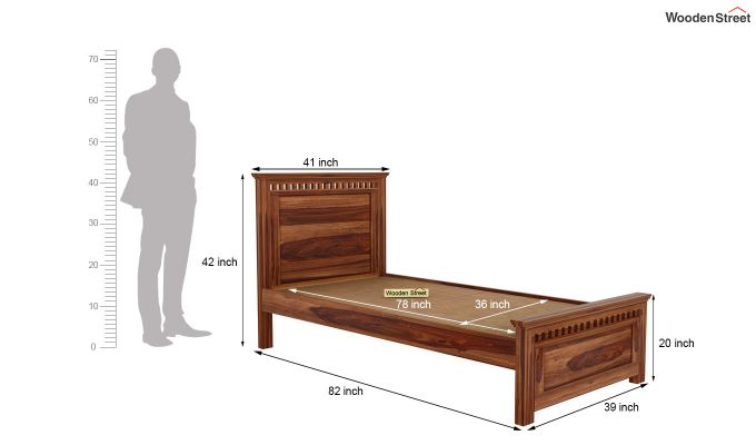 Adolph Trundle Bed (Teak Finish)-6