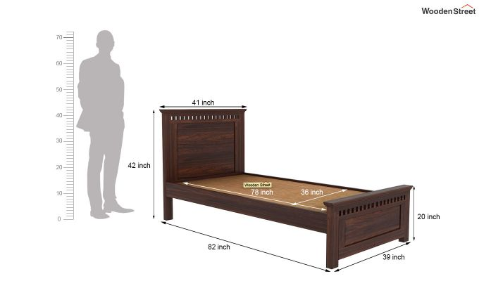 Adolph Trundle Bed (Walnut Finish)-6