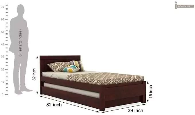 Cristiano Trundle Bed (Mahogany Finish)-8
