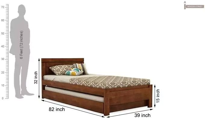 Cristiano Trundle Bed (Teak Finish)-8