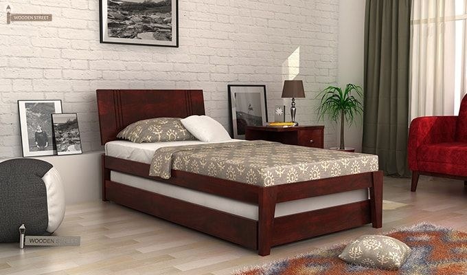 Fyodor Trundle Bed (Mahogany Finish)-1