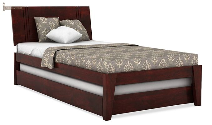 Fyodor Trundle Bed (Mahogany Finish)-2
