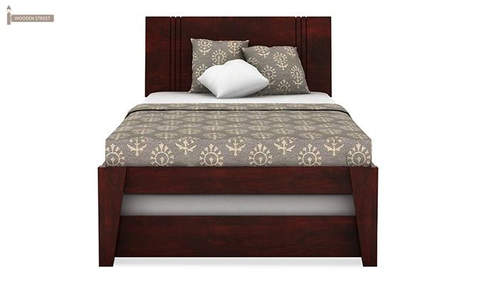 Fyodor Trundle Bed (Mahogany Finish)-3