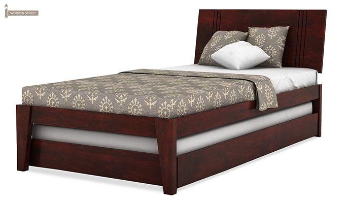 Fyodor Trundle Bed (Mahogany Finish)-4