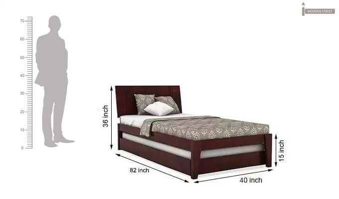 Fyodor Trundle Bed (Mahogany Finish)-10
