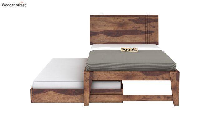 Fyodor Trundle Bed (Teak Finish)-6