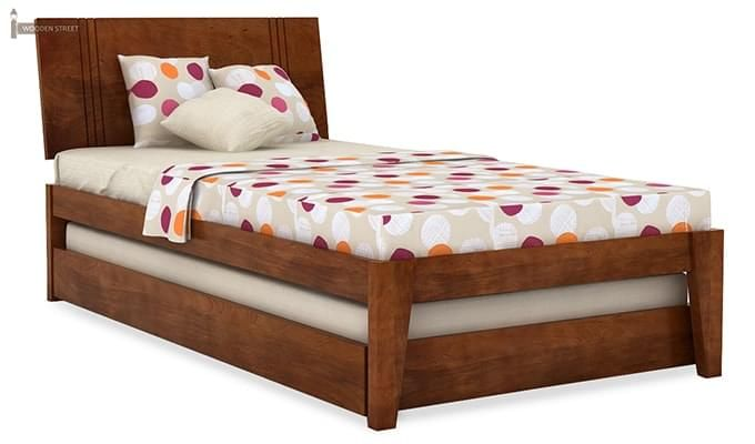 Fyodor Trundle Bed (Teak Finish)-5