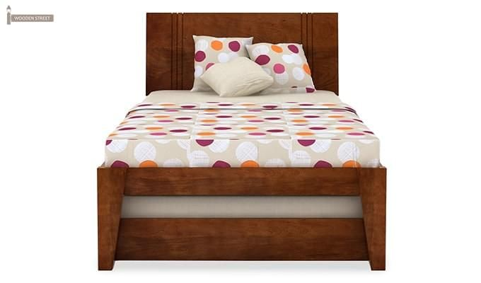 Fyodor Trundle Bed (Teak Finish)-6