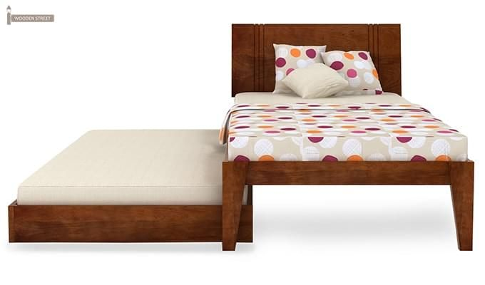 Fyodor Trundle Bed (Teak Finish)-7